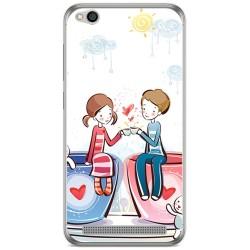 Funda Gel Tpu para Xiaomi Redmi 5A Diseño Cafe Dibujos
