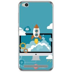 Funda Gel Tpu para Xiaomi Redmi 5A Diseño Cohete Dibujos