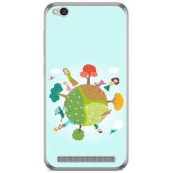 Funda Gel Tpu para Xiaomi Redmi 5A Diseño Familia Dibujos