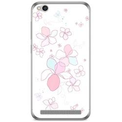 Funda Gel Tpu para Xiaomi Redmi 5A Diseño Flores Minimal Dibujos