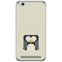 Funda Gel Tpu para Xiaomi Redmi 5A Diseño Pingüino Dibujos