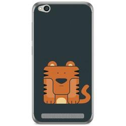 Funda Gel Tpu para Xiaomi Redmi 5A Diseño Tigre Dibujos
