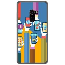 Funda Gel Tpu para Xiaomi Mi Mix 2 Diseño Apps Dibujos