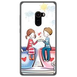 Funda Gel Tpu para Xiaomi Mi Mix 2 Diseño Cafe Dibujos