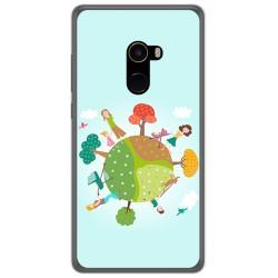 Funda Gel Tpu para Xiaomi Mi Mix 2 Diseño Familia Dibujos