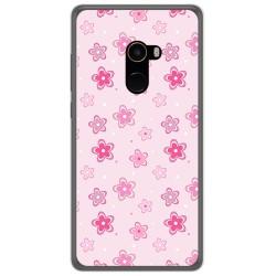 Funda Gel Tpu para Xiaomi Mi Mix 2 Diseño Flores Dibujos