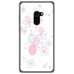 Funda Gel Tpu para Xiaomi Mi Mix 2 Diseño Flores Minimal Dibujos