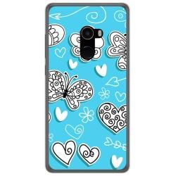 Funda Gel Tpu para Xiaomi Mi Mix 2 Diseño Mariposas Dibujos