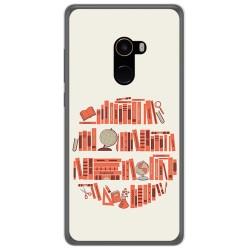 Funda Gel Tpu para Xiaomi Mi Mix 2 Diseño Mundo Libro Dibujos