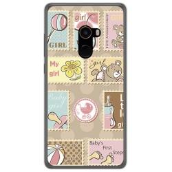 Funda Gel Tpu para Xiaomi Mi Mix 2 Diseño Sellos Dibujos