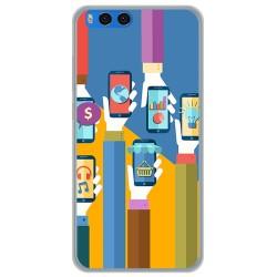 "Funda Gel Tpu para Xiaomi Mi Note 3 5.5"" Diseño Apps Dibujos"