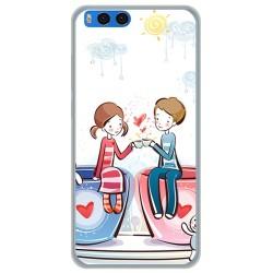 "Funda Gel Tpu para Xiaomi Mi Note 3 5.5"" Diseño Cafe Dibujos"