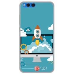 "Funda Gel Tpu para Xiaomi Mi Note 3 5.5"" Diseño Cohete Dibujos"