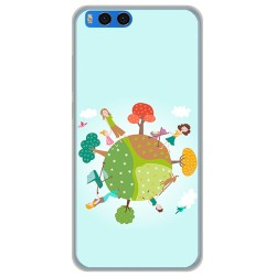 "Funda Gel Tpu para Xiaomi Mi Note 3 5.5"" Diseño Familia Dibujos"