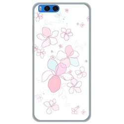 "Funda Gel Tpu para Xiaomi Mi Note 3 5.5"" Diseño Flores Minimal Dibujos"