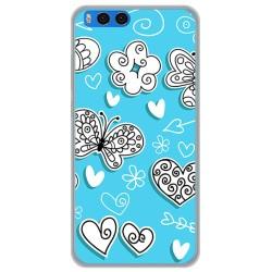 Funda Gel Tpu para Xiaomi Mi Note 3 5.5 Diseño Mariposas Dibujos