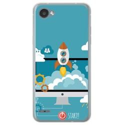 Funda Gel Tpu para Lg Q6 Diseño Cohete Dibujos