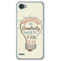 Funda Gel Tpu para Lg Q6 Diseño Creativity Dibujos