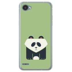 Funda Gel Tpu para Lg Q6 Diseño Panda Dibujos