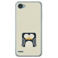 Funda Gel Tpu para Lg Q6 Diseño Pingüino Dibujos