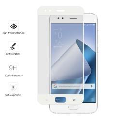 "Protector Cristal Templado Frontal Completo Blanco para Asus Zenfone 4 5.5"" Ze554Kl Vidrio"
