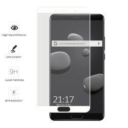 Protector Cristal Templado Frontal Completo Blanco para Huawei Mate 10  Vidrio