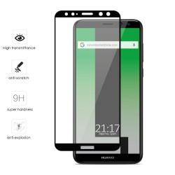Protector Cristal Templado Frontal Completo Negro para Huawei Mate 10 Lite Vidrio