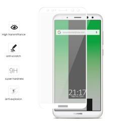 Protector Cristal Templado Frontal Completo Blanco para Huawei Mate 10 Lite Vidrio
