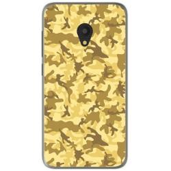 Funda Gel Tpu para Alcatel U5 (4G) / Orange Rise 52 Diseño Sand Camuflaje Dibujos