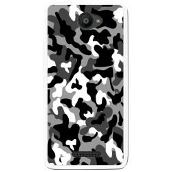 Funda Gel Tpu para Bq Aquaris U / U Lite Diseño Snow Camuflaje Dibujos