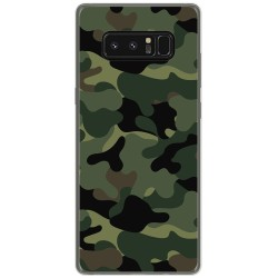 Funda Gel Tpu para Samsung Galaxy Note 8 Diseño Camuflaje Dibujos