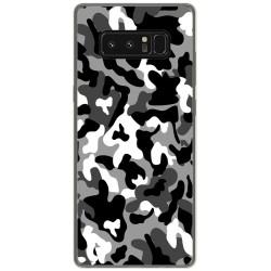 Funda Gel Tpu para Samsung Galaxy Note 8 Diseño Snow Camuflaje Dibujos