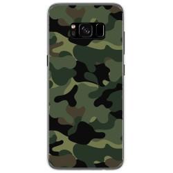 Funda Gel Tpu para Samsung Galaxy S8 Diseño Camuflaje Dibujos