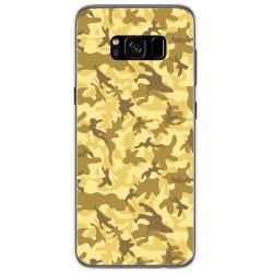 Funda Gel Tpu para Samsung Galaxy S8 Diseño Sand Camuflaje Dibujos