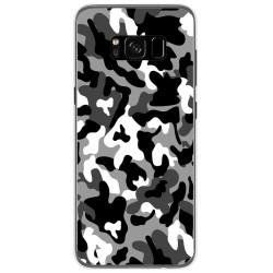 Funda Gel Tpu para Samsung Galaxy S8 Diseño Snow Camuflaje Dibujos