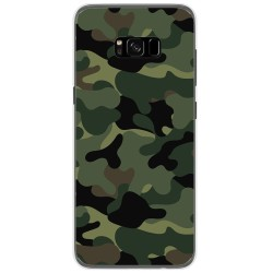 Funda Gel Tpu para Samsung Galaxy S8 Plus Diseño Camuflaje Dibujos