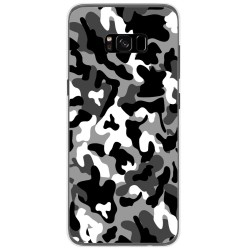 Funda Gel Tpu para Samsung Galaxy S8 Plus Diseño Snow Camuflaje Dibujos