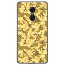 Funda Gel Tpu para Xiaomi Redmi Note 4X / 4 Version Global Diseño Sand Camuflaje Dibujos