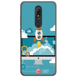 Funda Gel Tpu para Wiko View Prime Diseño Cohete Dibujos