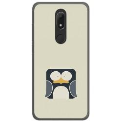 Funda Gel Tpu para Wiko View Prime Diseño Pingüino Dibujos