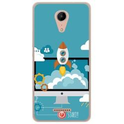 Funda Gel Tpu para Wiko Tommy2 Diseño Cohete Dibujos