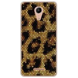 Funda Gel Tpu para Wiko Tommy2 Diseño Leopardo Dibujos