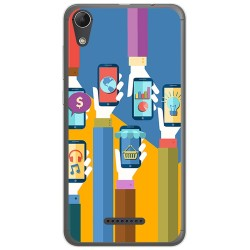 Funda Gel Tpu para Wiko Lenny4 Diseño Apps Dibujos