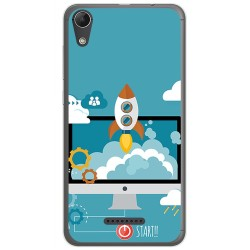 Funda Gel Tpu para Wiko Lenny4 Diseño Cohete Dibujos