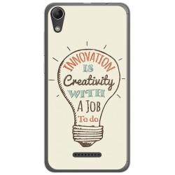 Funda Gel Tpu para Wiko Lenny4 Diseño Creativity Dibujos