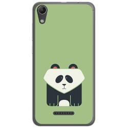 Funda Gel Tpu para Wiko Lenny4 Diseño Panda Dibujos