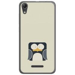 Funda Gel Tpu para Wiko Lenny4 Diseño Pingüino Dibujos
