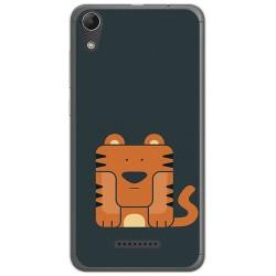Funda Gel Tpu para Wiko Lenny4 Diseño Tigre Dibujos