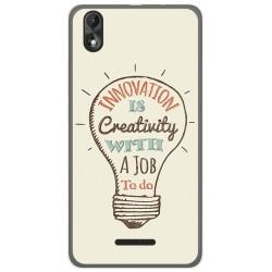 Funda Gel Tpu para Wiko Lenny4 Plus Diseño Creativity Dibujos