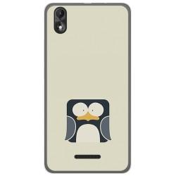 Funda Gel Tpu para Wiko Lenny4 Plus Diseño Pingüino Dibujos